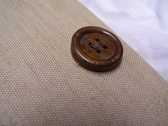 old wooden button