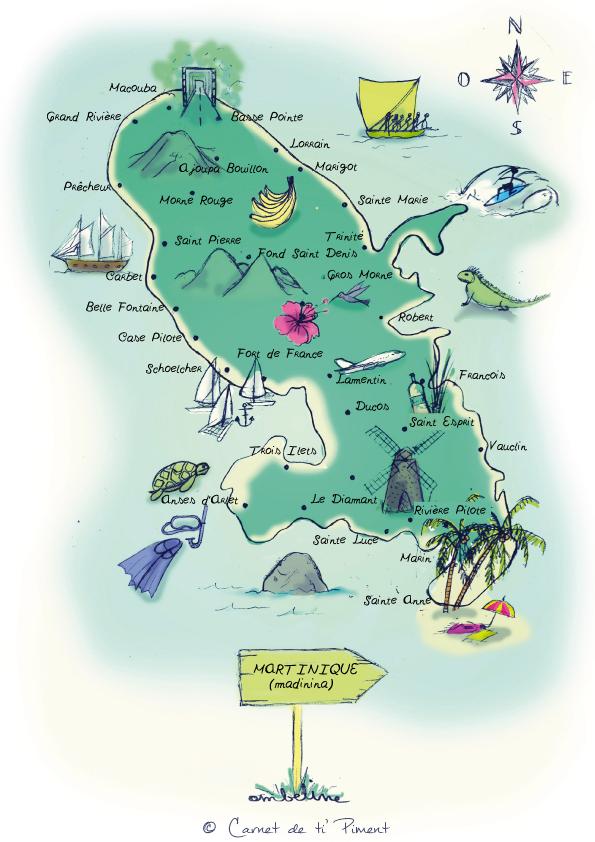 Carte Et Guides De Voyage En Martinique Ti Piment