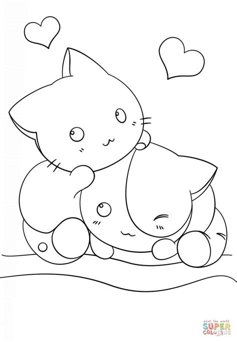 coloring pages  cute kawaii animals coloring home