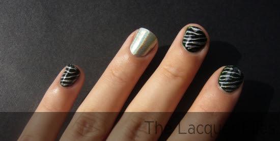 Nfu.Oh #569 Zulu Dupe Nfu.Oh #66 Holographic Regular Polish Stamping Konad Imageplate M57 Zebra Design Nail Art
