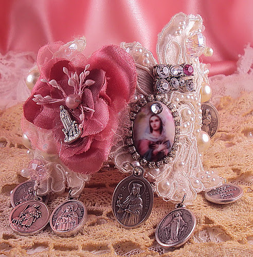 "Virgin Mary ""Queen of Heaven"" Lace Cuff by inspirational"