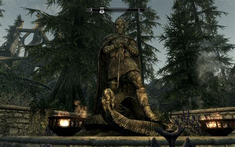 skyrim shrine  talos hd wallpaper gamephd