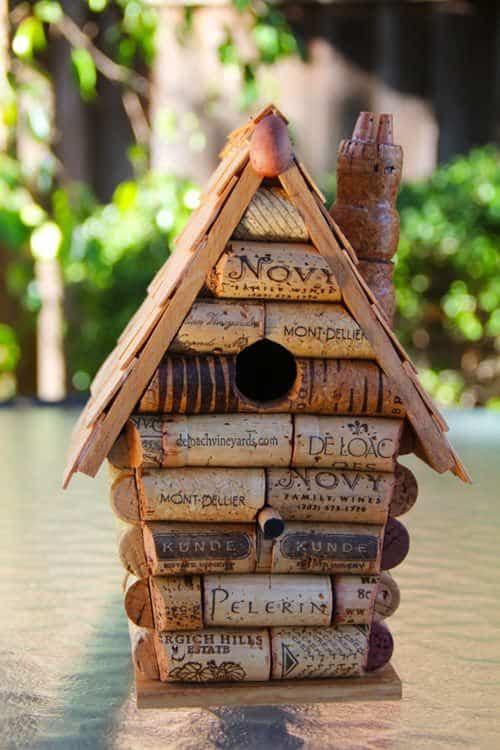Wine Cork Birdhouse • Recycled Ideas • Recyclart