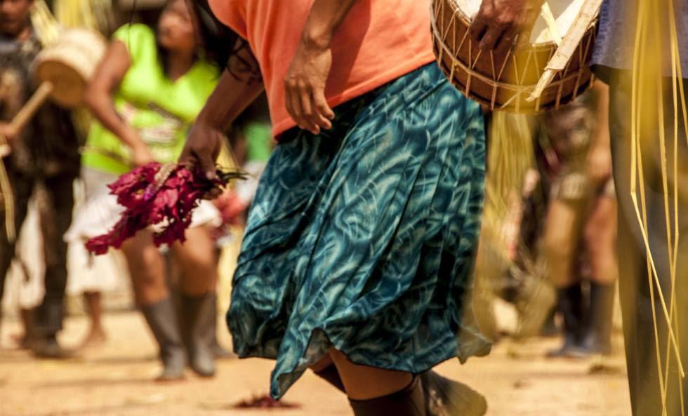 Escena de un momento del Uyantza Raymi, la fiesta tradicional de Sarayaku.