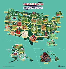 The United States as a Theme Park Map from... - Maps on the Web