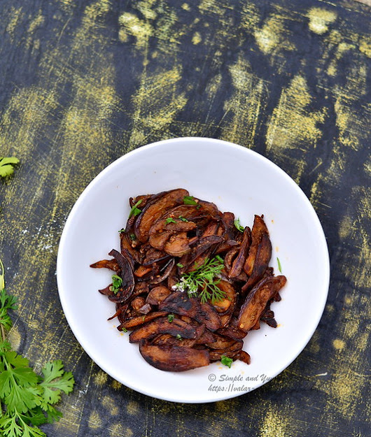 Spicy Brinjal Fry | Easy and Spicy Eggplant fry