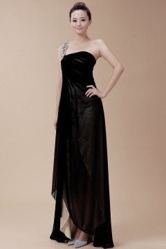 Long black evening dresses cheap