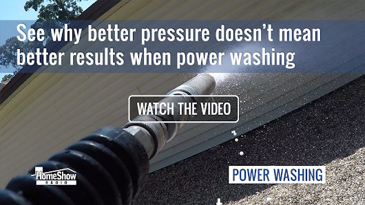 Power washing: why more pressure may not mean more cleaning [VIDEO]