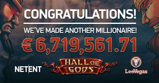 LeoVegas Player Wins 6.7 Million Hall of Gods Jackpot