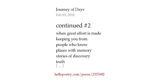 continued #2 by Journey of Days