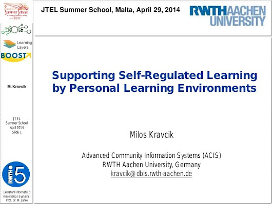 Supporting Self-Regulated Learning by Personal Learning Environments