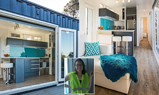 Woman who built her home from a shipping container shares her tips