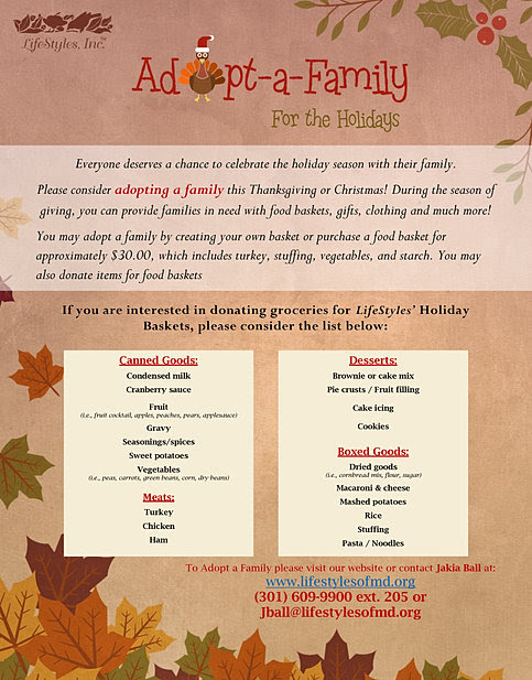 LifeStyles of Maryland, Inc. | 2018 THANKSGIVING BASKET DISTRIBUTION