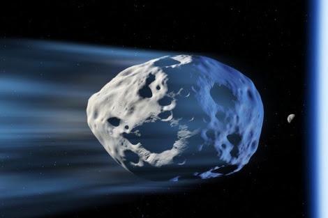 Recreación de un asteroide pasando cerca de la Tierra. | AGE