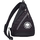 Harley-Davidson Willie G Skull Quilted Travel Large Sling Backpack 90820-WILLIEG, Black