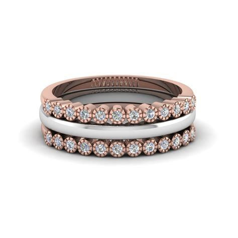 Curved Stackable Diamond Womens Wedding Band In 14K Rose
