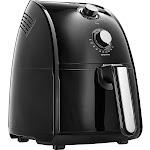 Bella - 2.6 qt. Analog Air Fryer - Black