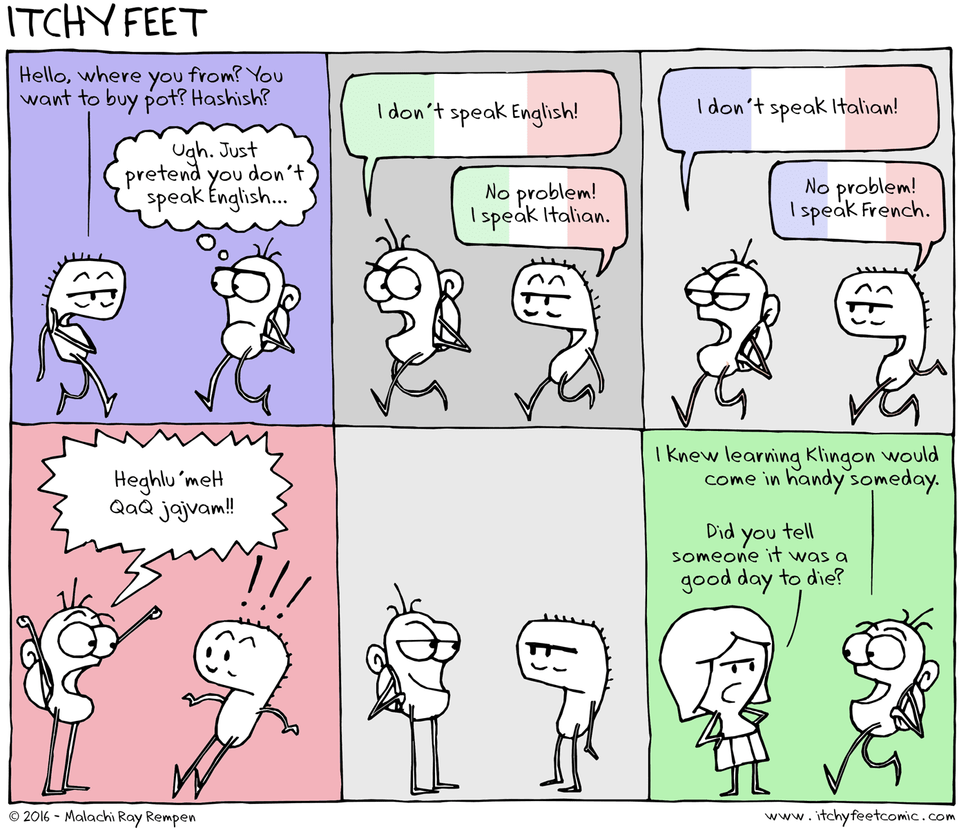 Learning Klingon can be great to confuse people who speak lots of languages like polyglots