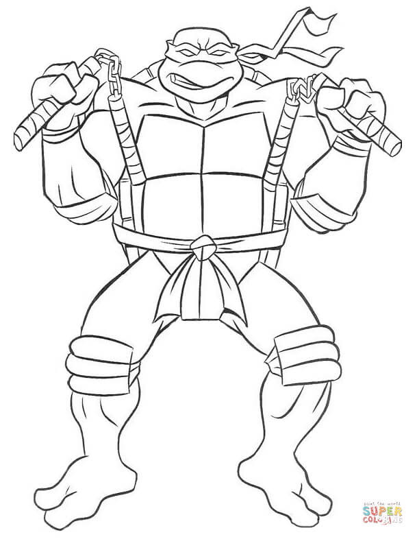 900 Coloring Pages For Ninja Turtles Download Free Images