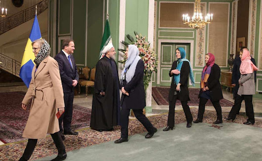 "Walk of shame: Sweden's ""first feminist government"" don hijabs in Iran - UN Watch"