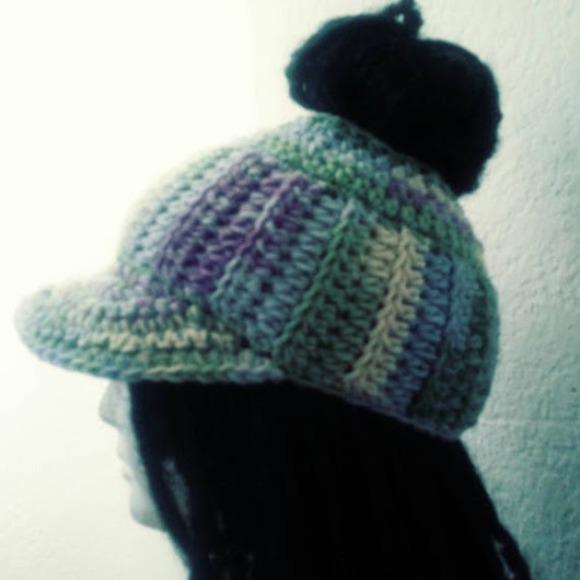 Custom Crocheted Messy Bun Cadet Hat // Fitted Hats //
