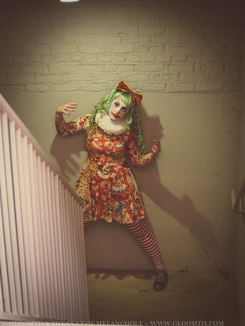 "New ""Scary Clowns"" Print Dress"