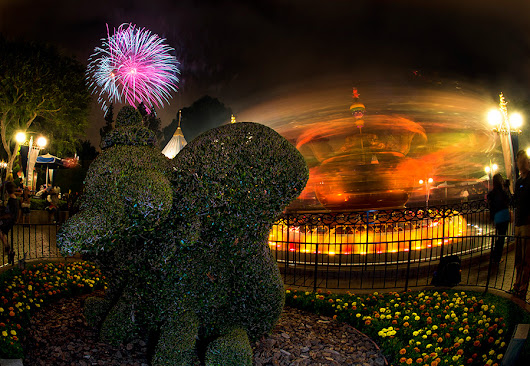 Disney Parks After Dark: Dumbo the Flying Elephant … Topiary, That is … at Disneyland Park