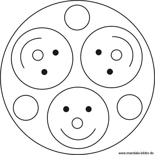 smiley mandala lust auf drei lustige smileys zum ausdrucken und ausmalen. Black Bedroom Furniture Sets. Home Design Ideas