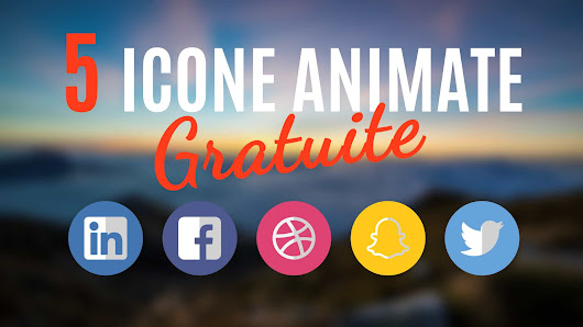 Template After Effects: 5 Icone Animate Gratuite - Daniele Zanini - Motion Designer