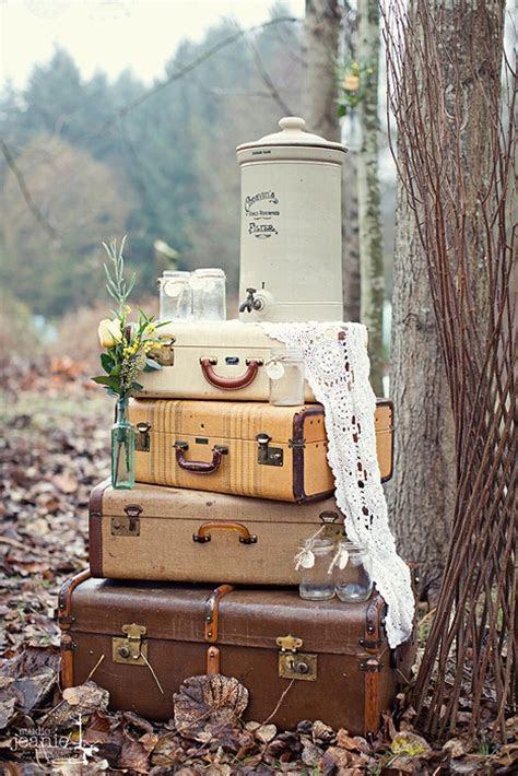 42  Adorable Vintage Suitcases Wedding Ideas   Deer Pearl