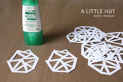 paper pendant - cutting