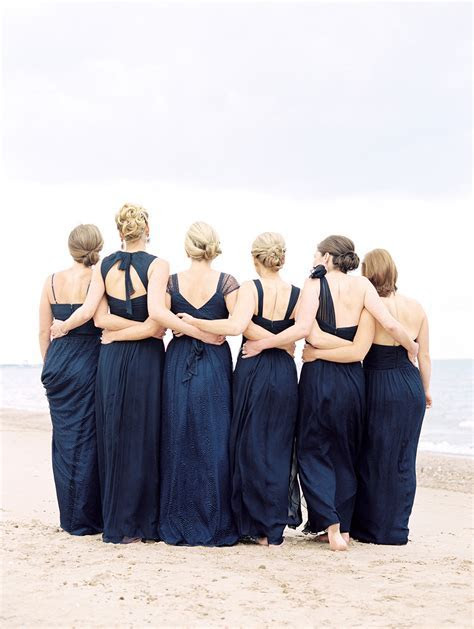 navy blue and pink beach wedding