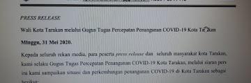 Press Release COVID-19 Tarakan 31 Mei 2020