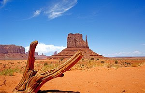 West Mitten Butte Monument Valley, view northe...
