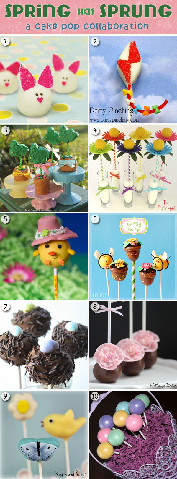 Spring Cake Pops with Tutorials