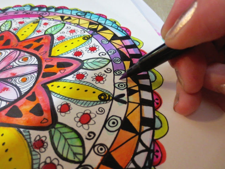 Watercolor Mandala Directions
