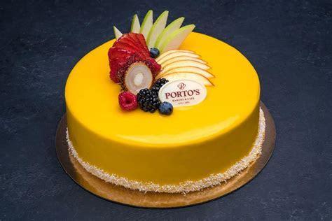 """Mango Mousse Cake 9""""   Porto's Bakery"""