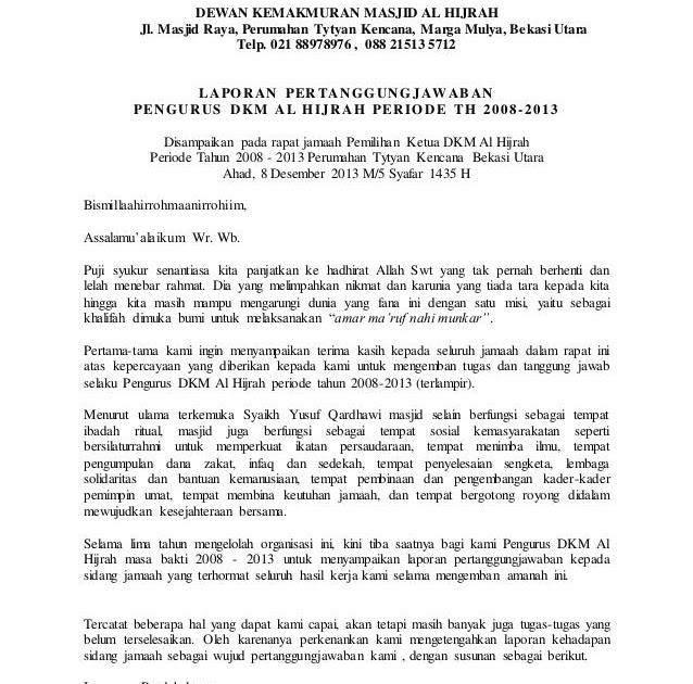 Contoh Surat Pengunduran Diri Pengurus Rt - Fontoh