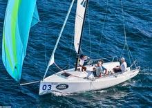 J/70 sailing on lake