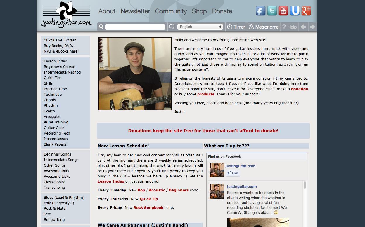3. Justin Guitar