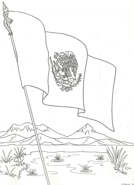 Banderademexico Dibujo De La Bandera De Mexico Para Imprimir Pintar