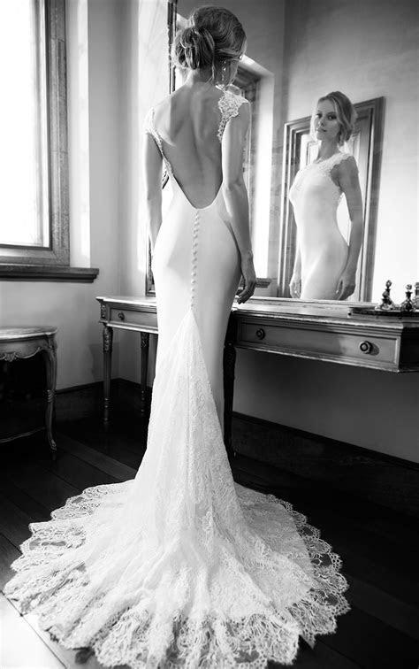 Fitted Silk Wedding Dress Cap Sleeves   Martina Liana