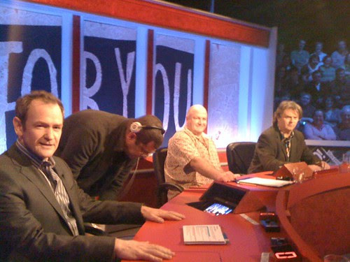 Bob Crow & HIGNFY panel by Jimmy Carr