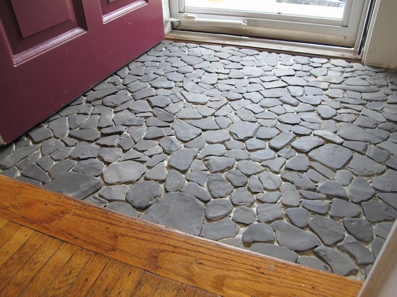 Installing DIY Pebble Tile (Part 1 of 2)   merrypad