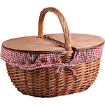 Picnic Time Country Red Check Picnic Basket