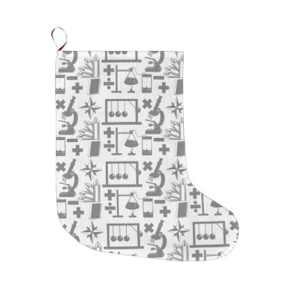 Science Biology Physics Geography Math Pattern Large Christmas Stocking