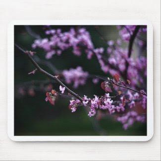 Purple Buds mousepad