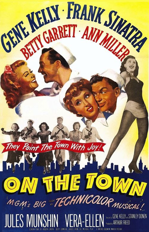 Best Film Posters : gene kelly on the town - with Ann Miller 1949... - Dear Art | Leading Art & Culture Magazine & Database