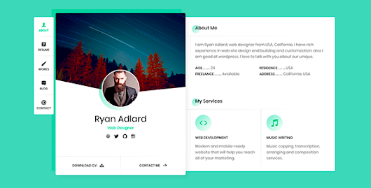 Ryan - vCard / Resume / CV Template - Theme88.Com – Free Premium Nulled Cracked Themes & Plugins & PHP Scripts and More