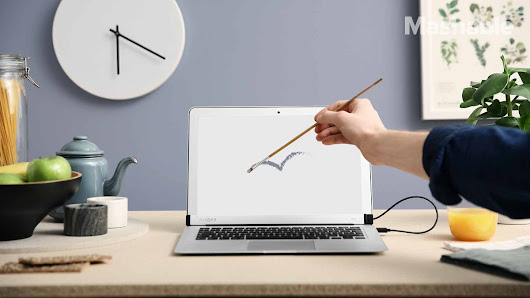 "Mashable on Twitter: ""This magnetic bar uses light to turn your laptop into a touch screen """